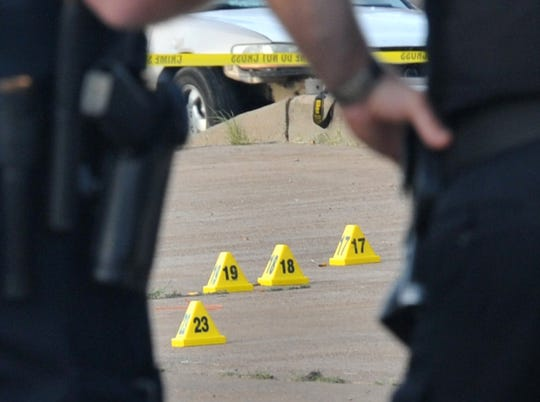 Wichita Falls police investigate a shooting at Studio E located on Sheppard Access Road early Sunday morning. Sgt. Harold McClure confirmed one person was killed and three others injured during the shooting.