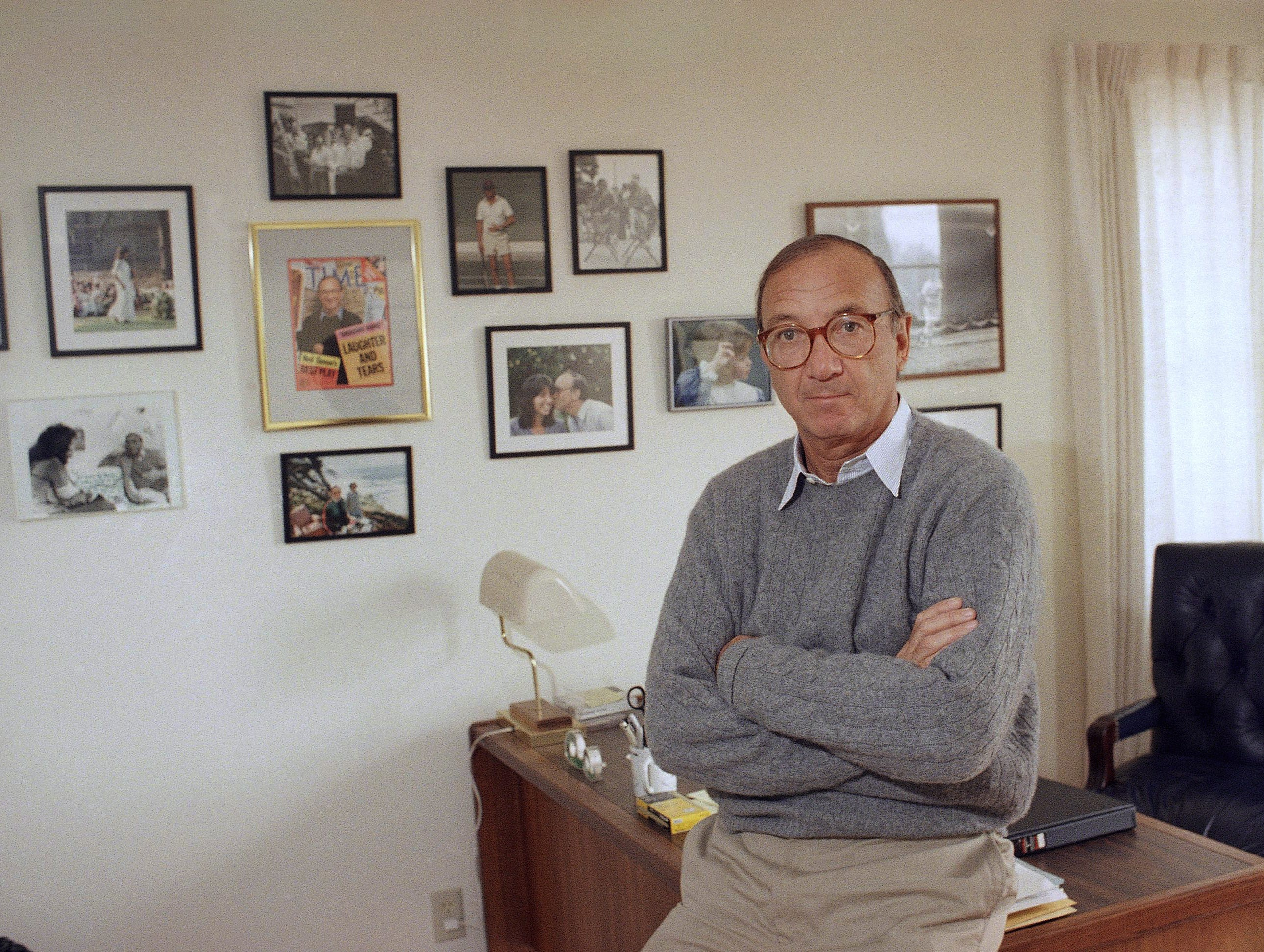 Playwright Neil Simon in his Los Angeles office, Wednesday, March 9, 1988. (AP Photo/Ira Mark Gostin)