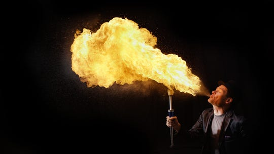 Brant Matthews, aka FireGuy, set a new world record in August at the Wisconsin State Fair.
