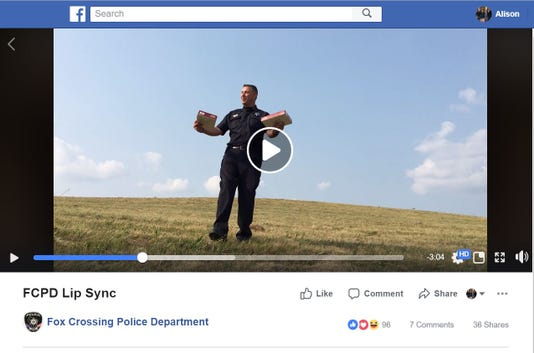 Fox Crossing police take on Lip Sync Challenge