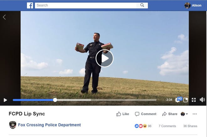 Fox Crossing police joined the Lip Sync Challenge that departments locally and across the country have also taken on.