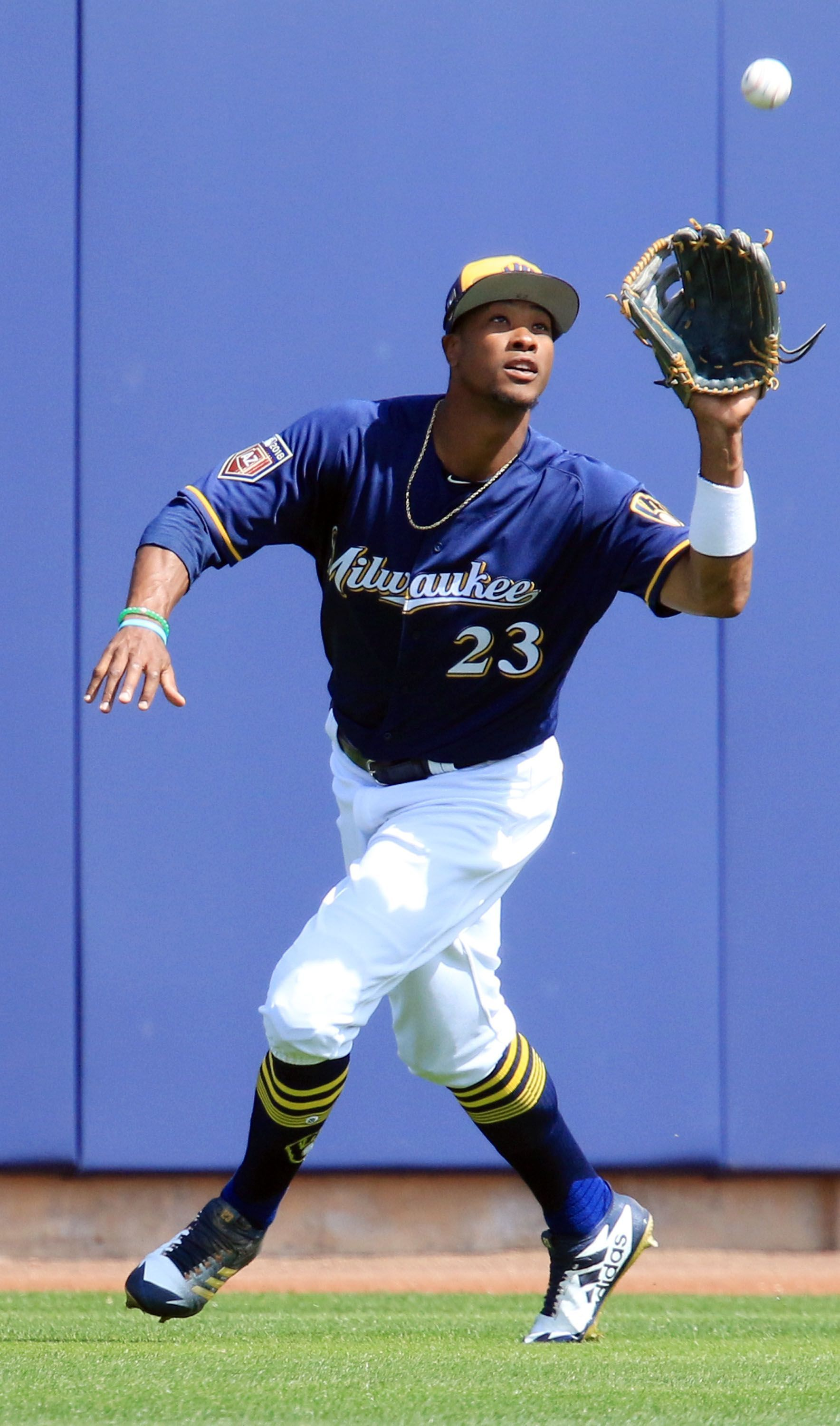 Milwaukee Brewers outfielder Keon Broxton is scheduled to play with the Timber Rattlers this week at Fox Cities Stadium.