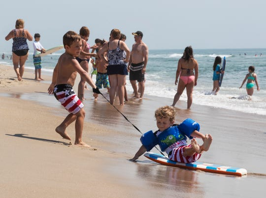 Kids love the beach, but they should be supervised, especially around the water.