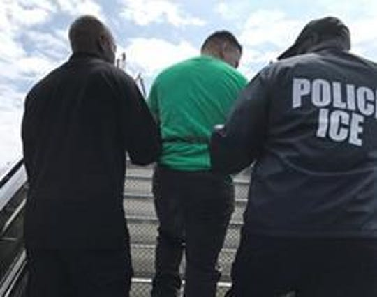 Melvin Isaac Martinez-Guevara, an alleged MS-13 member, was deported to El Salvador, where he faces a gang-related homicide charge.