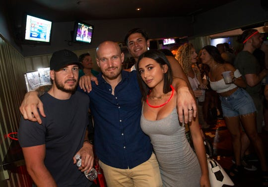 Vinny Guadagnino drops by with some friends to D'Jais Bar and Nightclub in Belmar in 2018.