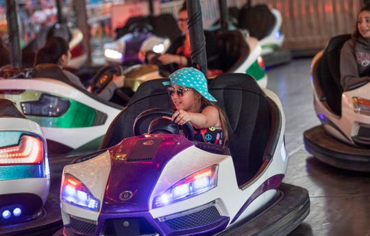 Visitors enjoy the rides at Casino Pier.  NJ Shore Towns: Seaside Park and Seaside Heights on July 7, 2018.