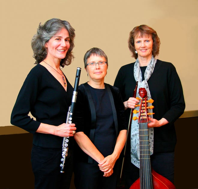 Kate Steinbeck, left, is joined by early music masters Barbara Weiss, harpsichord, and Gail Ann Schroeder, viola de gamba, for a Sept. 10 concert.