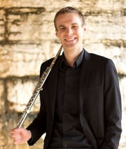 James Brinkmann, flutist, performs with Pan Harmonia April 10.