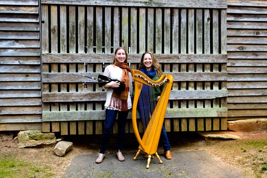 The Reel Sisters are Rosalind Buda, on Scottish smallpipes, and Kelly Brzozowski, on harp.
