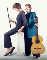 Kate Steinbeck, flute, and Amy Brucksch, guitar, perform together Dec. 2.