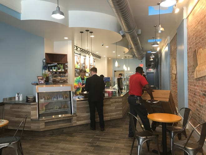 Inside the new Asheville Ben & Jerry's Scoop Shop on Monday