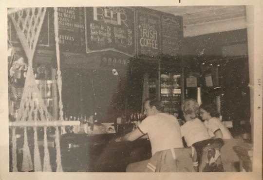 The bar of the Number 5 Restaurant in September of 1981.