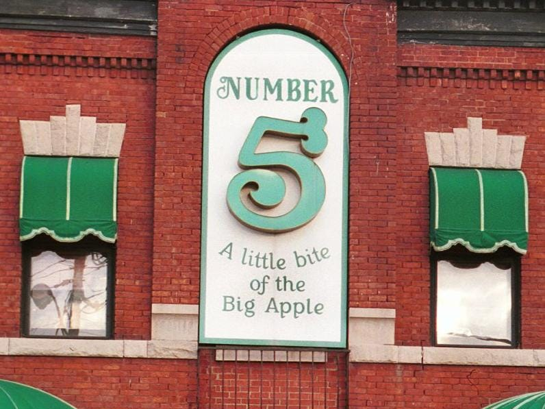 The Number 5 Restaurant on Binghamton's southside, pictured here February of 1999, is considered a historic landmark.
