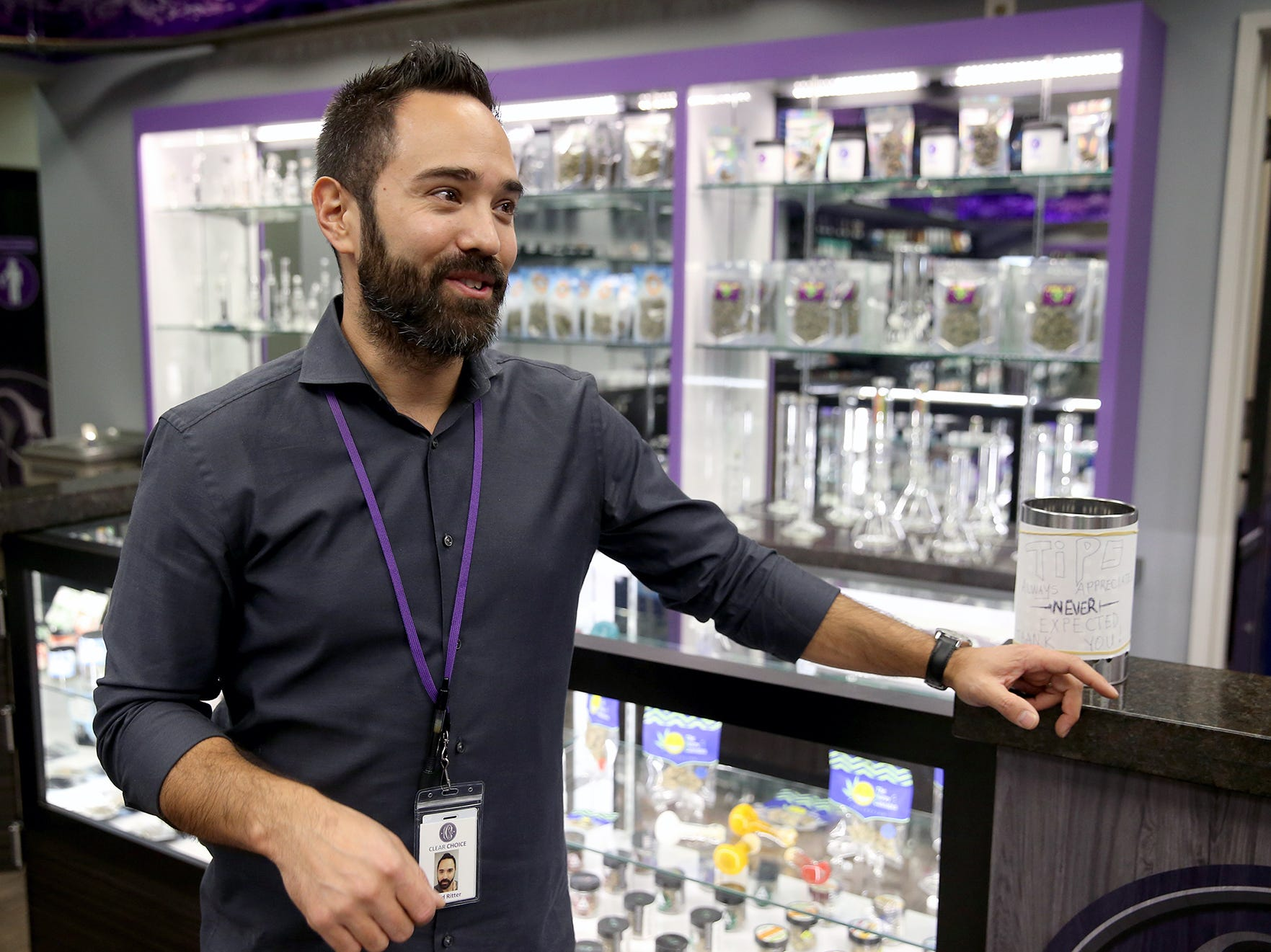 Chad Ritter is one of three owners of Clear Choice Cannabis in East Bremerton.