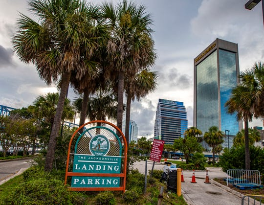 JACKSONVILLE, FL - AUGUST 26: Foot and car traffic is forbidden near Jacksonville Landing after a shooting on August 26, 2018 in Jacksonville, Florida. A shooting rampage during a Madden 19 video game tournament at the site claimed four lives, with several others wounded, according to published reports.  (Photo by Mark Wallheiser/Getty Images)