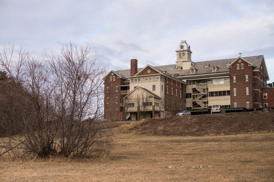 The back of the now-closed St. Joseph's Orphanage in Burlington, Vermont.