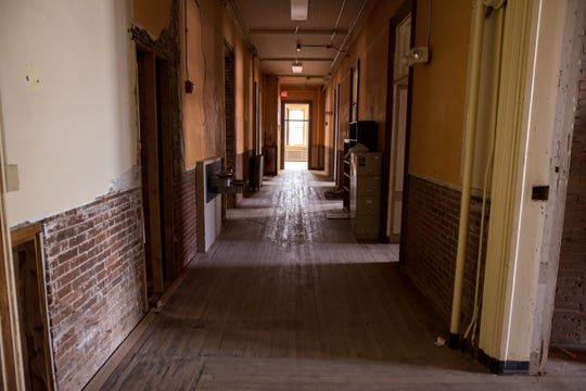 A first-floor hallway of the now-closed St. Joseph's Orphanage in Burlington, Vermont.