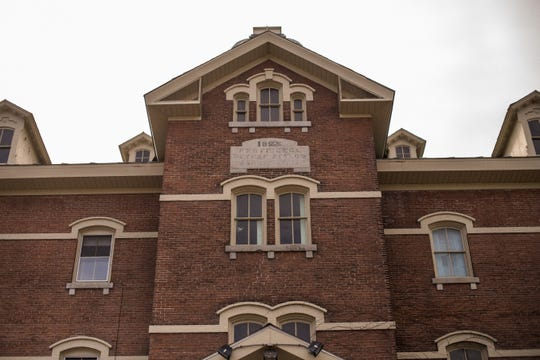 Exterior photograph of the front of the now-closed St. Joseph's Orphanage in Burlington, Vermont.