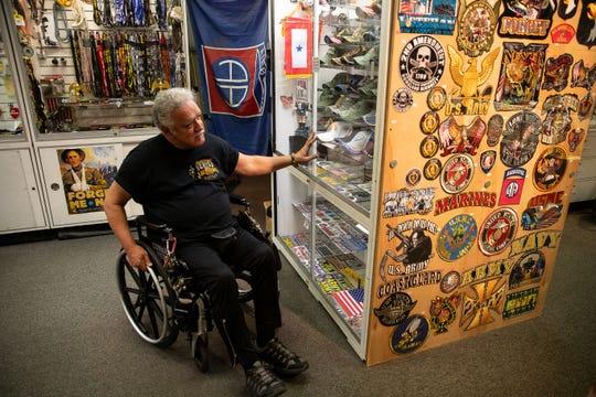 Noe Bocanegra owner of War & Peace Ltd in the Sunrise Mall in his store on Thursday, Aug, 23, 2018. Bocanegra will be closing his long running store.