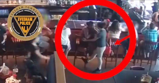 A victim at Chickie's & Pete's restaurant in Marlton had her wallet stolen from her purse and the suspect or suspects later used stolen credit cards to make purchases at local stores. Two women on the left are shown, and police recently charged one of the women with multiple offenses.