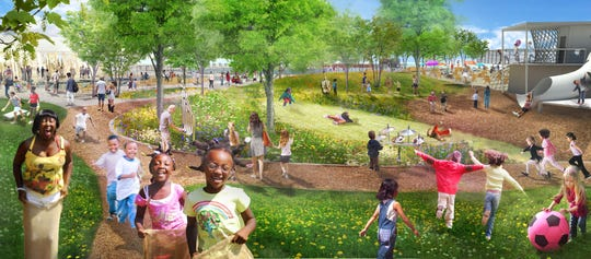 Rendering shows a concept of what the Atwater Beach park may look like when completed in 2019.