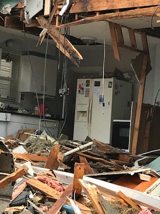 Erica Hammel's two-story St. Clair Shores home is being torn down Monday, Aug. 27, 2018. A new home will be built in its place.