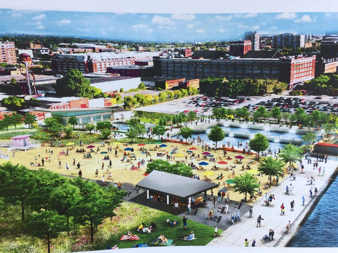 A rendering of what Atwater Beach would look like when complete.