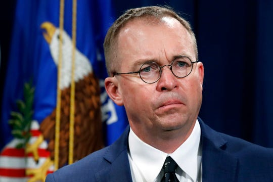 Mick Mulvaney, acting director of the Consumer Financial Protection Bureau, highly criticized in a resignation letter from student loan watchdog, Seth Frotman. Frotman says the White House's is hostile toward protecting student loan borrowers.  (AP Photo/Jacquelyn Martin, File)