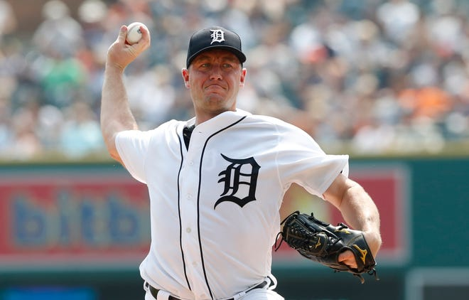 Tigers pitcher Jordan Zimmermann is 6-6 with a 4.38 ERA and 1.272 WHIP in 19 starts this season.