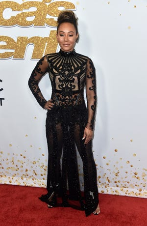 "Mel B  attends ""America's Got Talent"" Season 13 Live Show Red Carpet at Dolby Theatre on Aug. 21 in Hollywood, California. )"