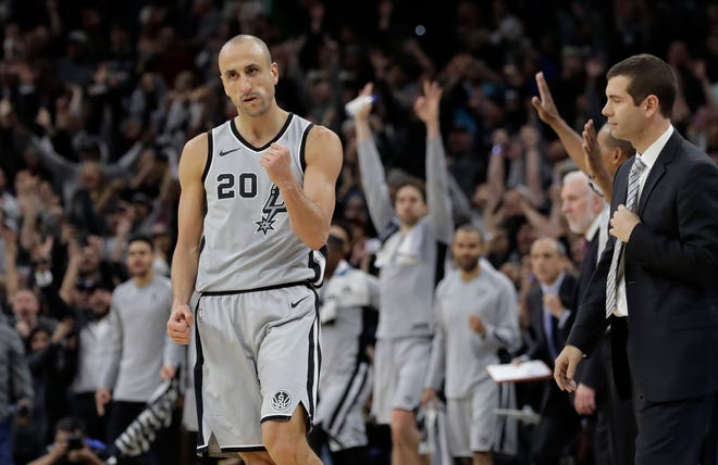 """Manu Ginobili retired at age 41 after a """"fabulous journey"""" in which he helped the San Antonio Spurs win four NBA championships in 16 seasons with the club."""