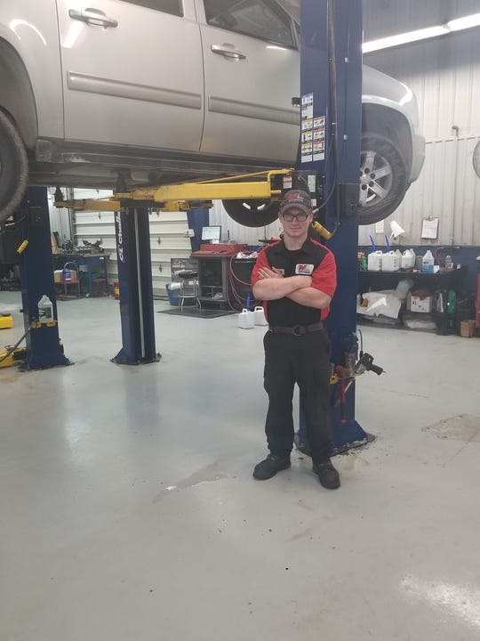 James McMillan is pursuing his General Motors certification to become an auto technician. He's currently working as a lube technician, where he uses computerized data analysis in his daily work.