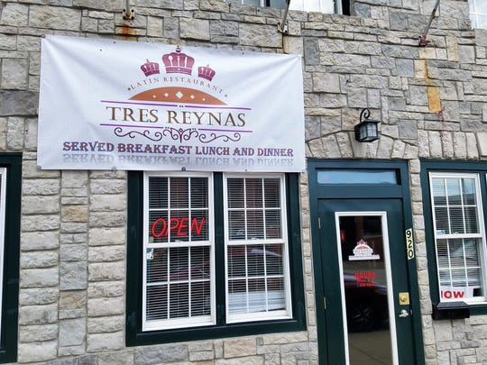 Tres Reynas is located on the portion of Main St. south of Lloyd Expressway but North of the Civic Center.