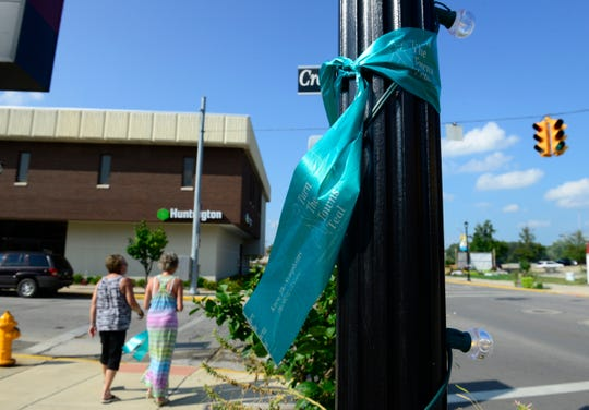 """""""Turn The Towns Teal"""" is a national campaign to promote awareness of ovarian cancer, its subtle symptoms and risk factors."""