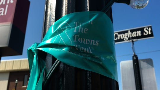 """Turn The Towns Teal"" is a national campaign to promote awareness of ovarian cancer, its subtle symptoms and risk factors."