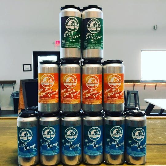 Palm City Brewing in San Carlos Park now offers three of its beers in 16-ounce cans.
