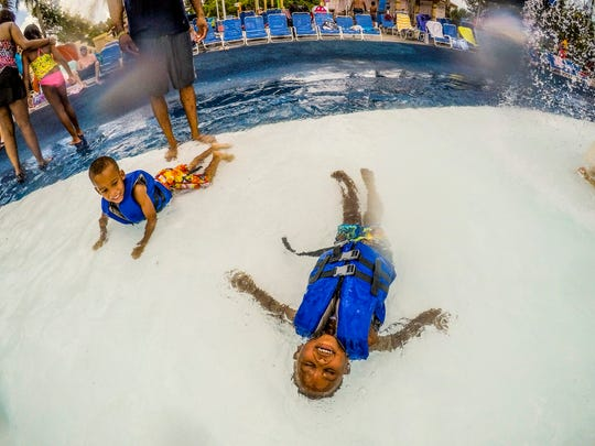 Gannon Wilkerson, 3, and his brother Jimmy, 4, of Fort Myers play at SunSplash area. How did summer 2018 go? Locals and visitors flocked to SunSplash in Cape Coral Saturday, August 25, 2018.