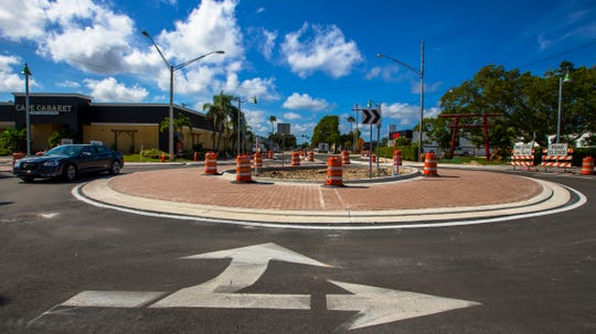 Cape Coral Roundabout -- At SE 47th Terrace and Vincennes Blvd.