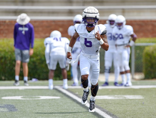 Amir Trapp (6) brings a swagger to Furman's secondary, Paladins coaches say. Trapp transferred from Clemson in January.