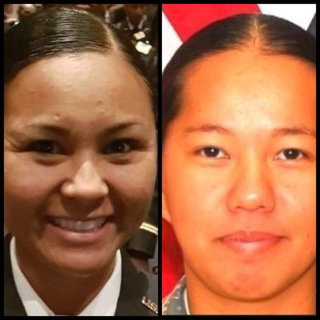 2nd Lt. Estella Aguon and Sgt. Gloria Babauta