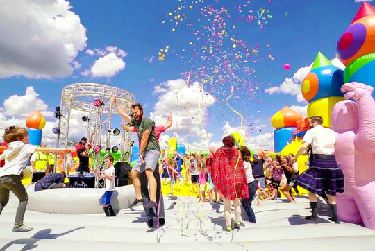 The largest bounce house in the world is coming to Indianapolis.