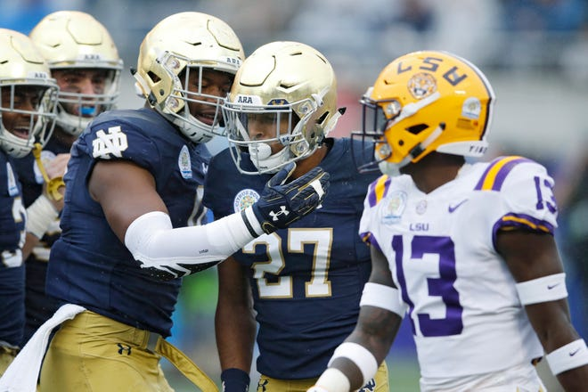 Julian Love is an All-America candidate in the secondary for the Irish.