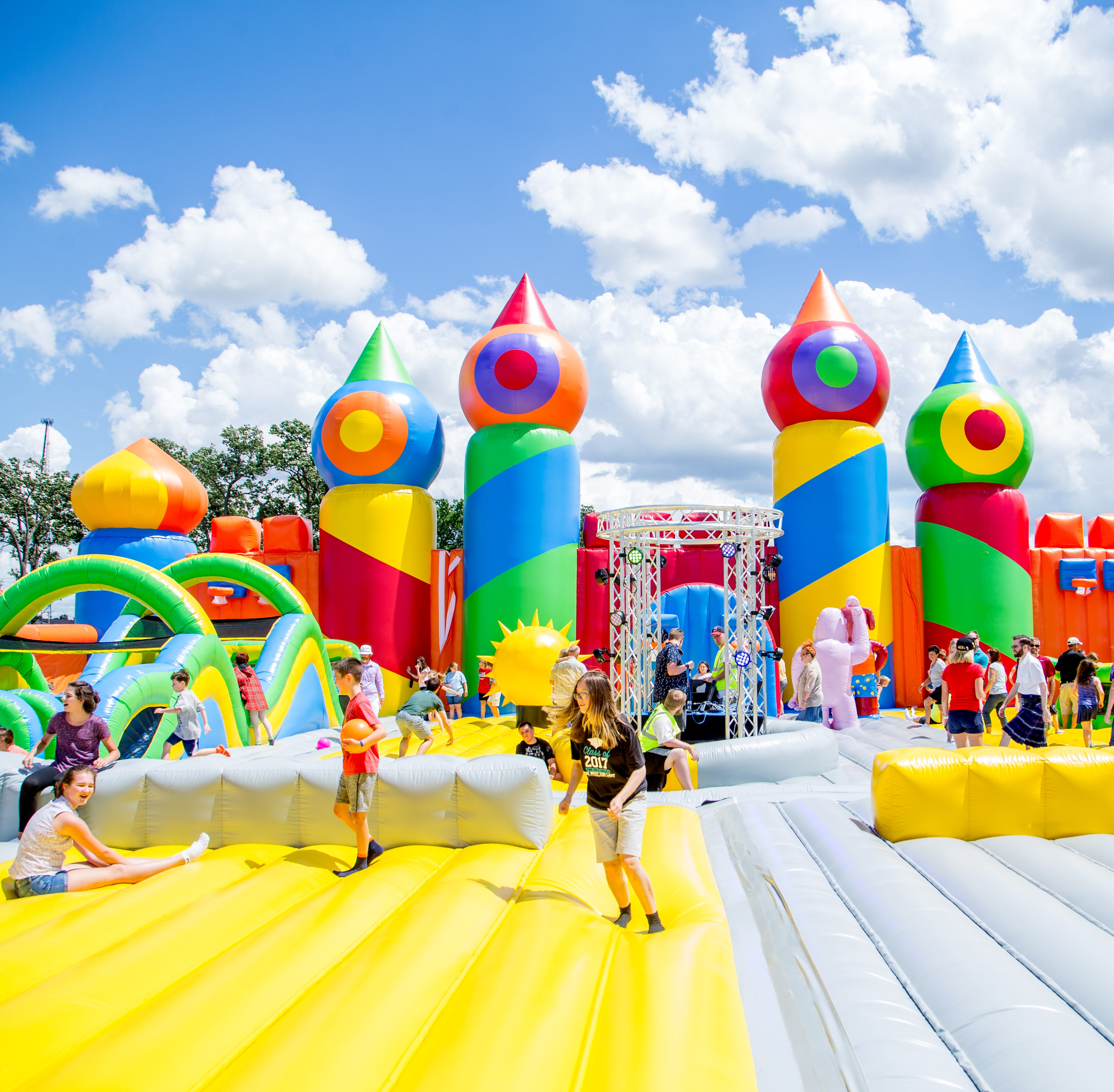 The world's largest bounce house is coming to Des Moines — and adults are welcome