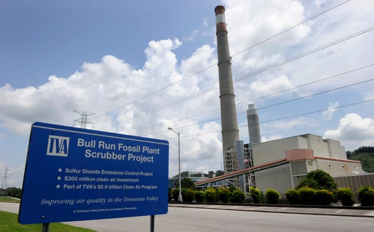 TVA's Bull Run Fossil Plant, near Oak Ridge, is shown here on July 23, 2014.