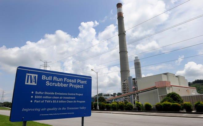 FILE - TVA's Bull Run Fossil Plant, near Oak Ridge, is shown here on July 23, 2014.