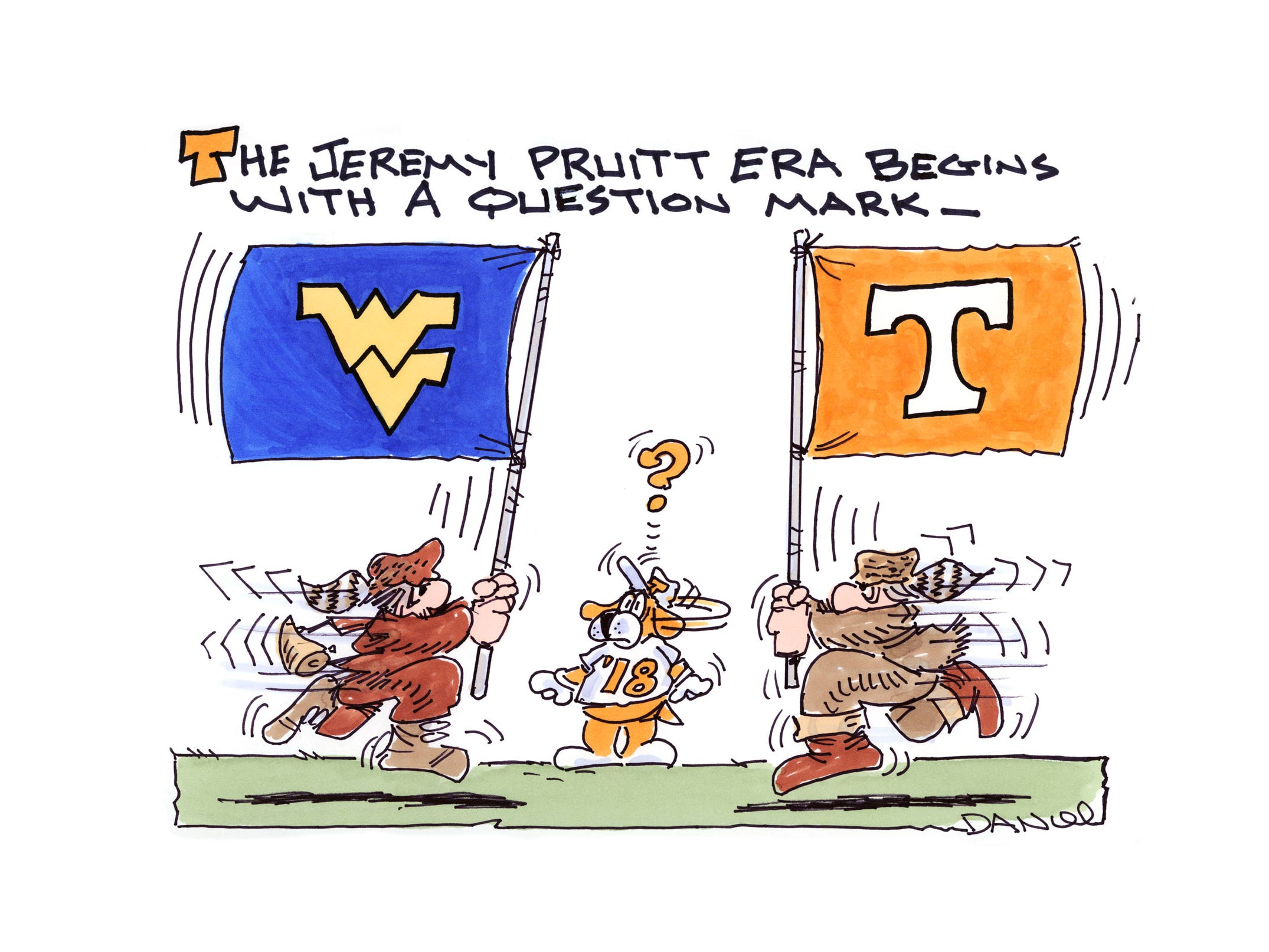 Charlie Daniel Voltoon for West Virginia and Tennessee.