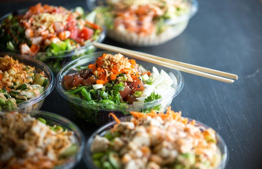 A selection of poke bowls available at Poke Bros. restaurant that is coming to West Town Mall.