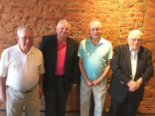 The Tarhe Lions of Lancaster's Chartered Members. From left Larry Geiger, Bob Cunningham, Larry Chapman and Ron Paxton.