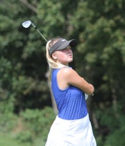 Hartland's Sydney Bradford shot 80 in the Coach Miller Invitational at Oak Pointe Country Club on Monday, Aug. 27, 2018.