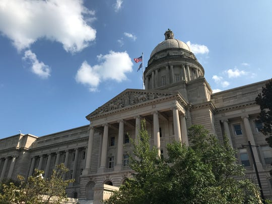Lawmakers gathered at the Kentucky Capitol building in Frankfort on Thursday for the final day of the 2019 legislative session.